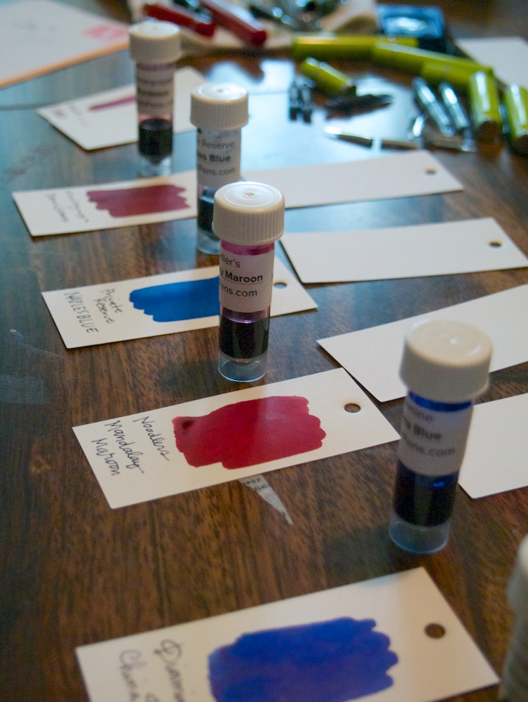 Ink Drop Swatches lined up