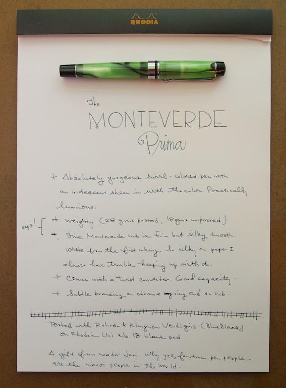 Monteverde Prima in Green Swirl