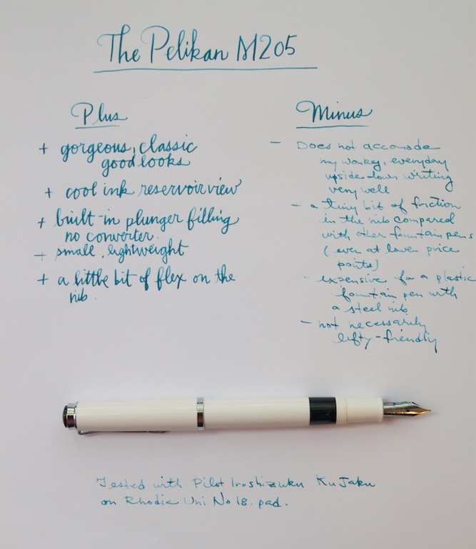 Pelikan M205 writing sample