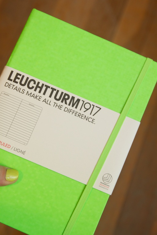 Leuchtturm 1917 Neon Green Notebook