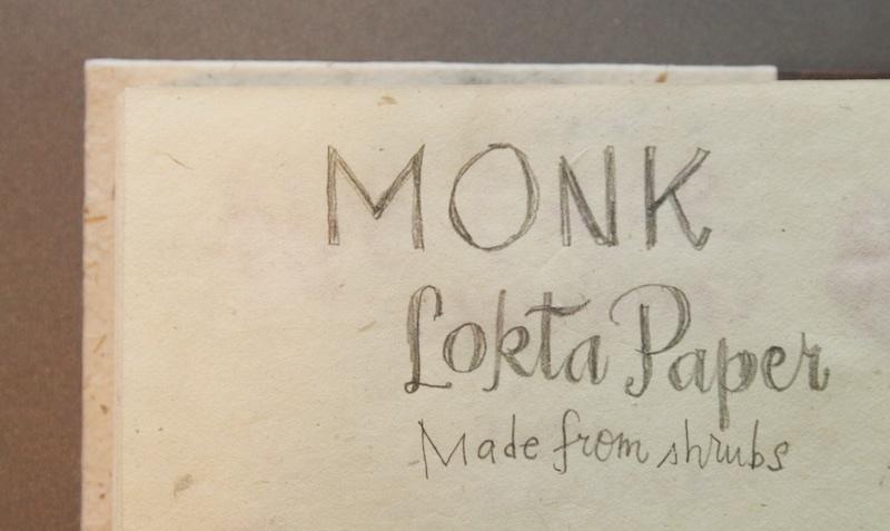 Monk Paper Journal writing sample