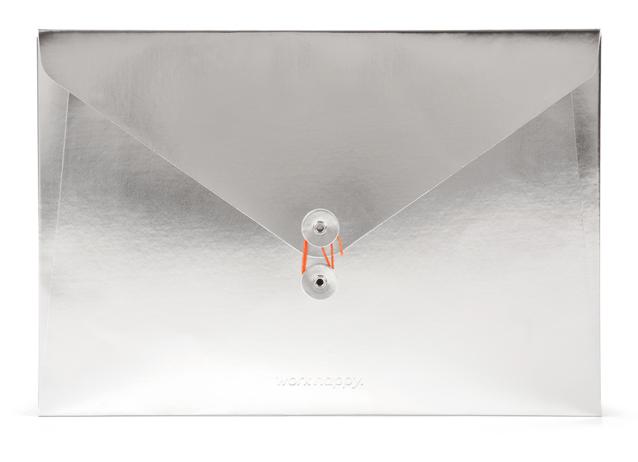 Poppin Silver Document Folio