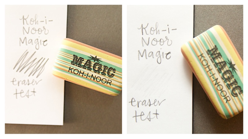 Koh-i-noor Magic Eraser test