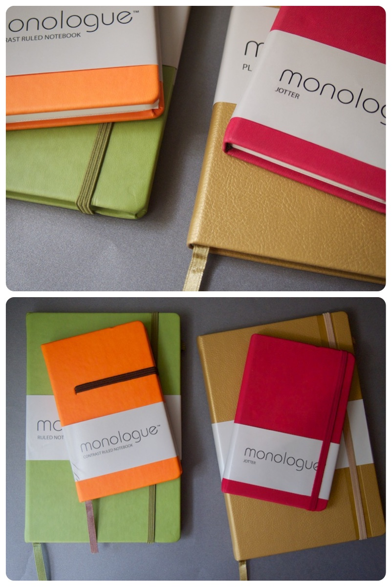 monologue giveaway notebooks