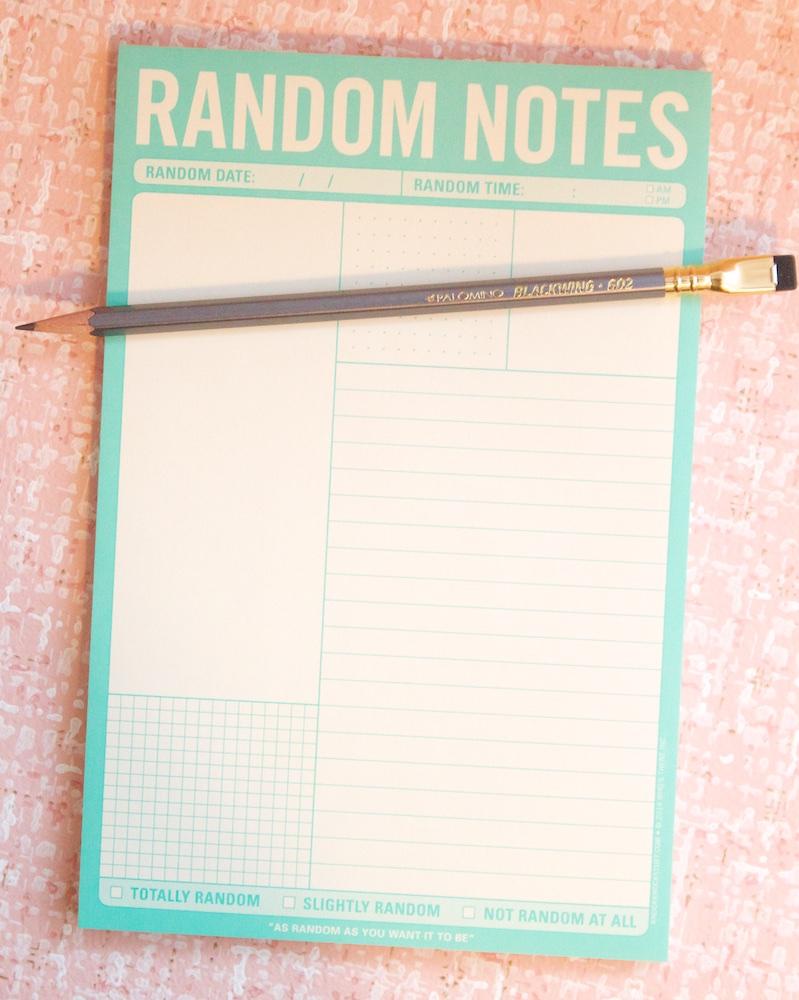 Knock Knock Random Notes Pad