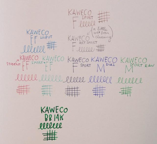 Kaweco nib size sampler