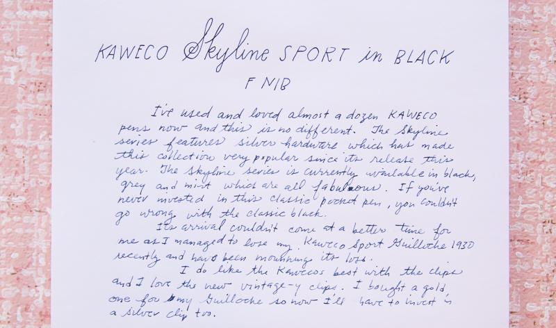 Kaweco Skyline Black F nib