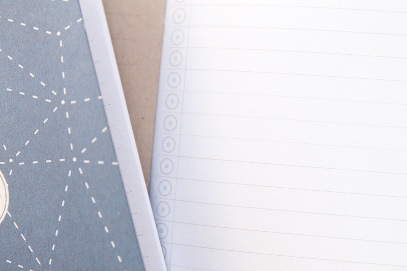 Word. Notebooks indigo paper