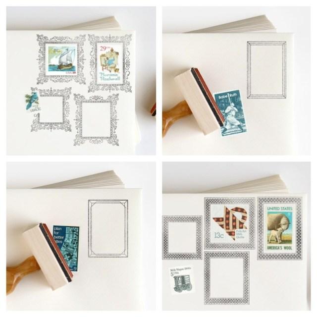 postage frame stamps