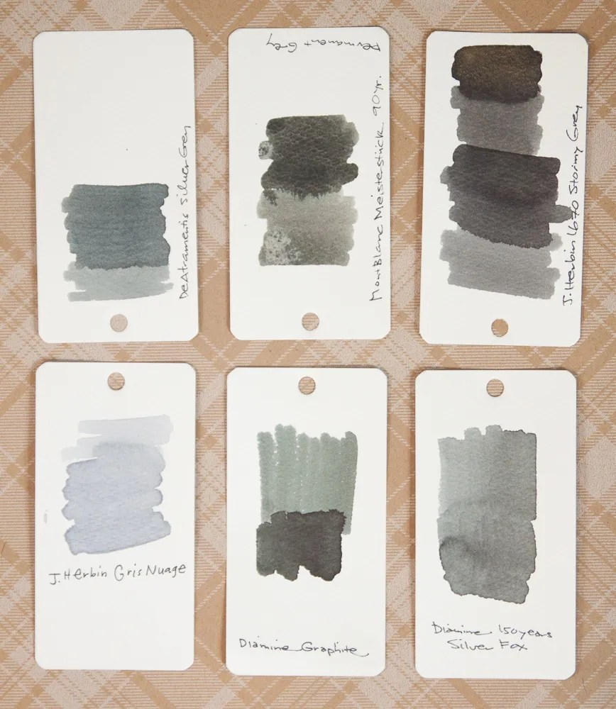 Diamine Silver Fox ink comparison