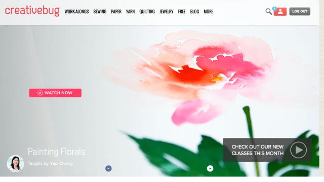 Creativebug screenshot