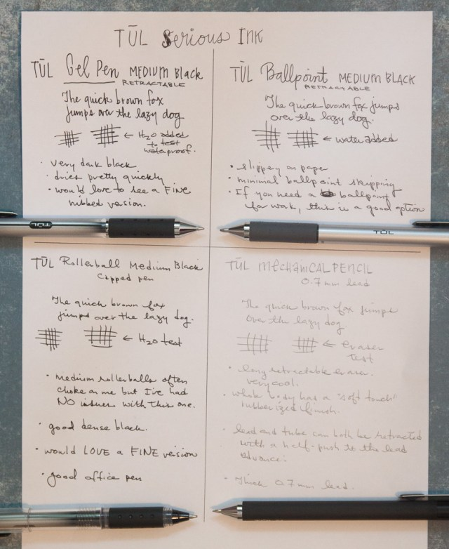 TUL Serious Ink writing samples