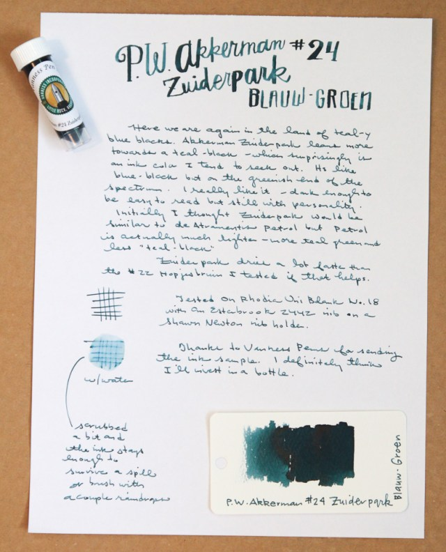 Akkerman Zuiderpark Blauw-Groen Ink