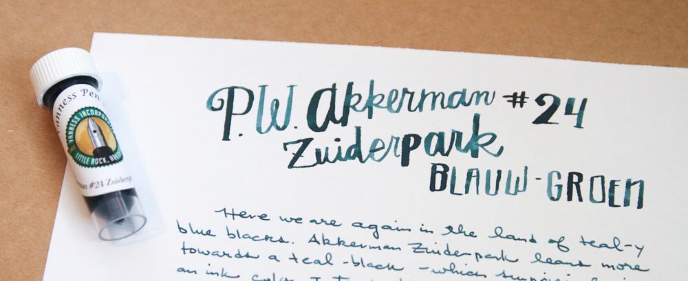 Akkerman Zuiderpark Blauw-Groen