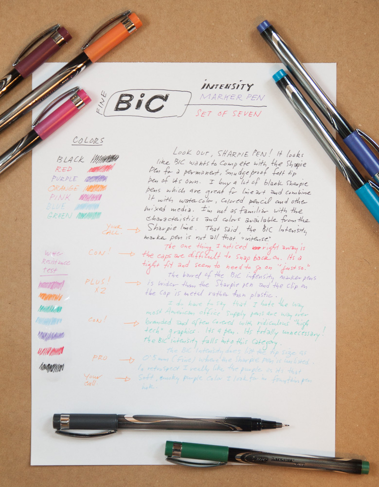 Bic Intensity Felt Tip Pens