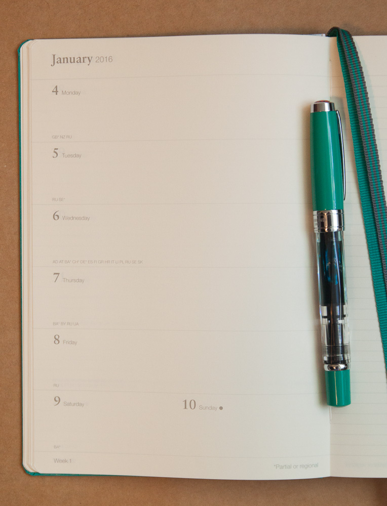 Leuchtturm1917 2016 planner week on one page plus notes