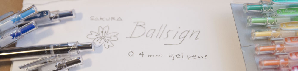 Sakura Ballsign 0.4 pen header
