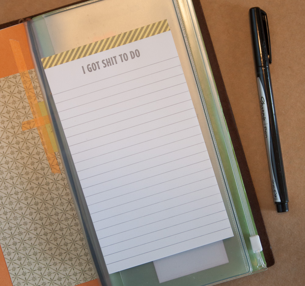 """Shit to do"" notepads"