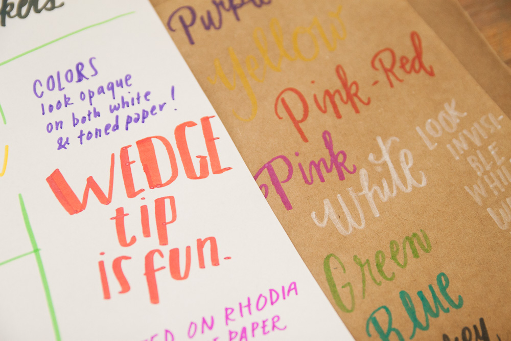 Crayola Gel Markers writing sample
