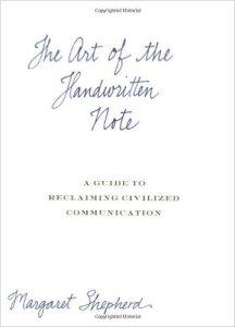 The Art of the Handwritten Note book