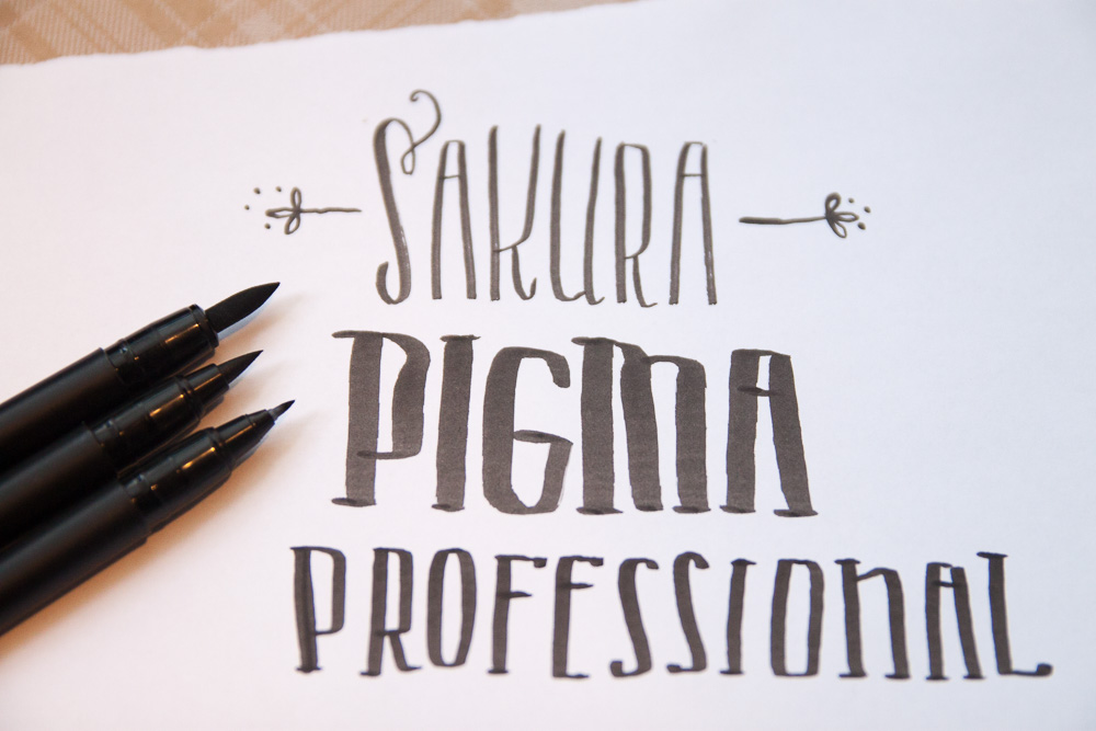 Sakura Pigma Professional Brush Pens close-up