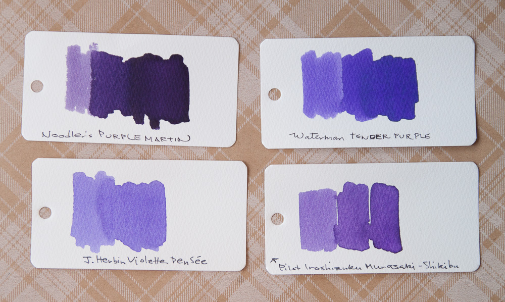 Waterman Tender Purple Ink comparison