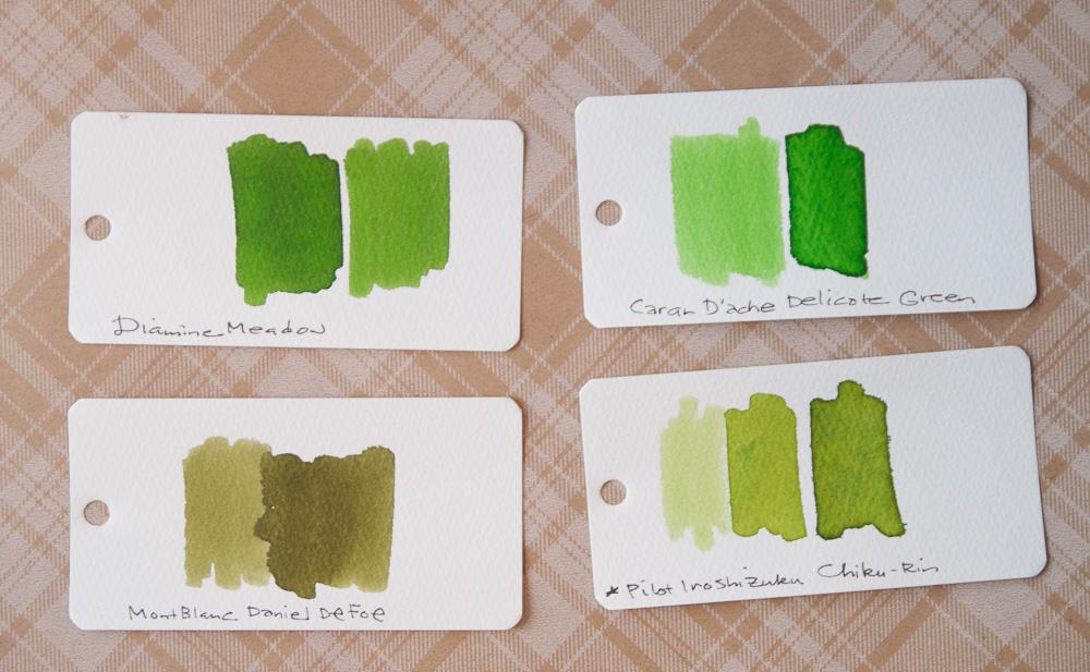 Diamine Meadow Ink comparison