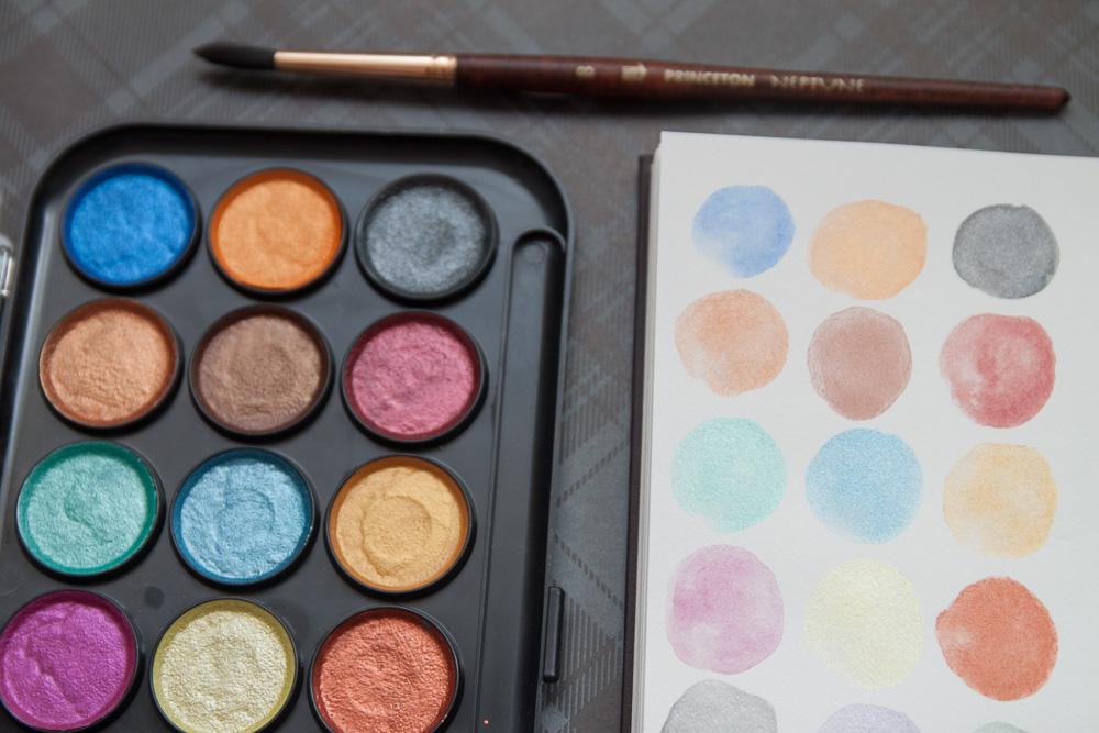 Yasutomo Niji Pearlescent Watercolor 21- color set