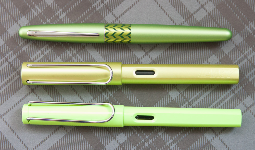 Laym AL-Star Charged Green Pen Comparison