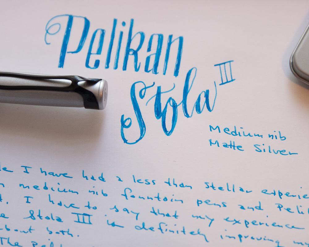 Pelikan Stola III writing