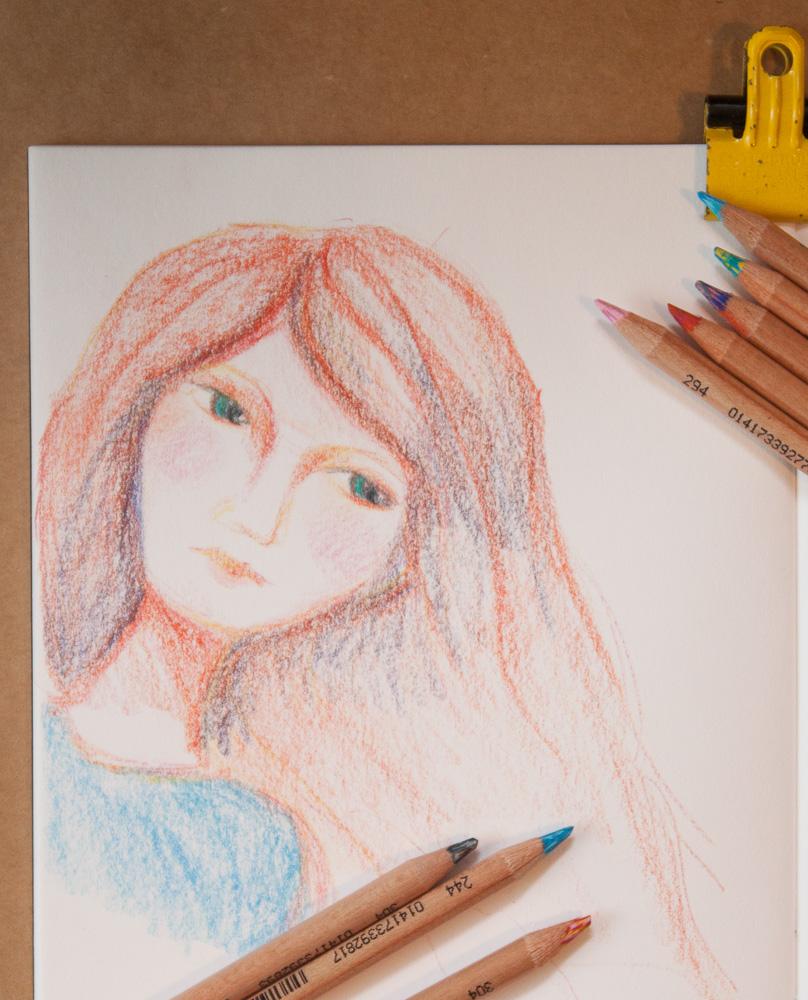Koh-i-noor tri-tone colored pencils drawing sample