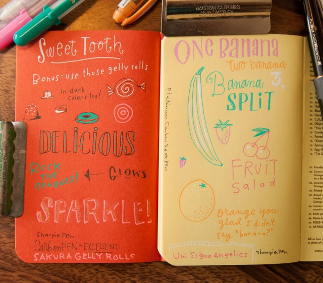 Field Notes Sweet Tooth writing sample