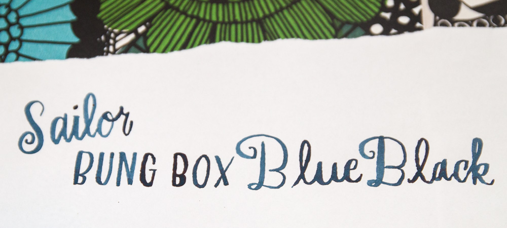Bung Box Blue-Black ink
