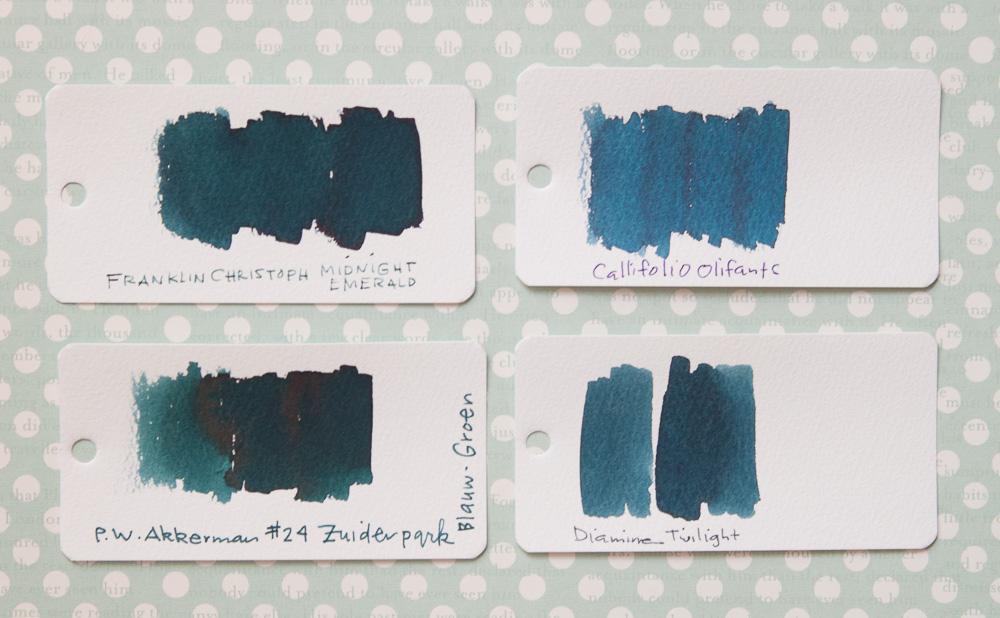 Franklin-Christoph Midnight Emerald Ink comparisons