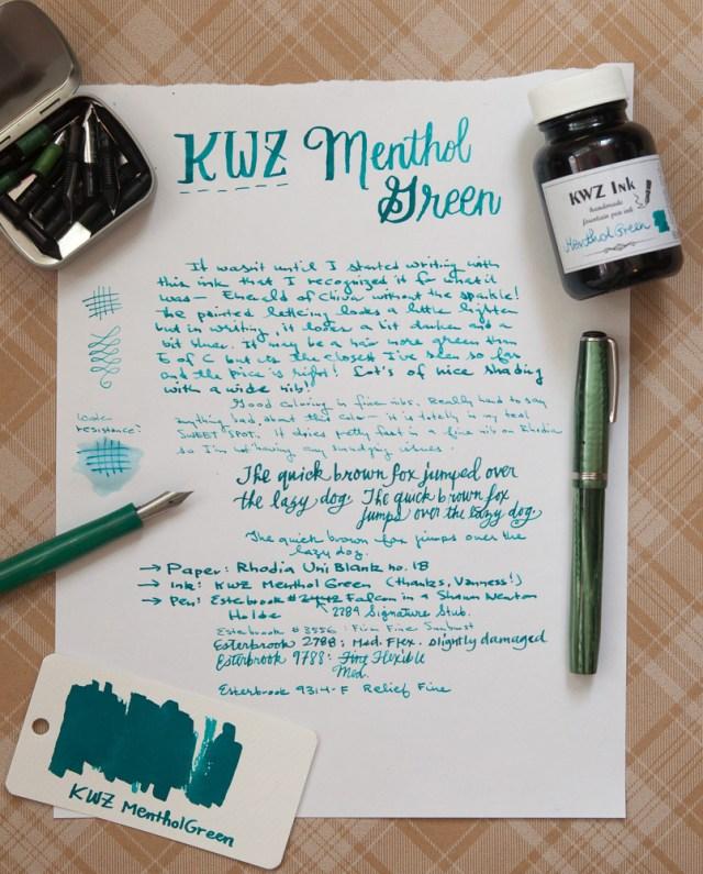 KWZ Menthol Green Ink