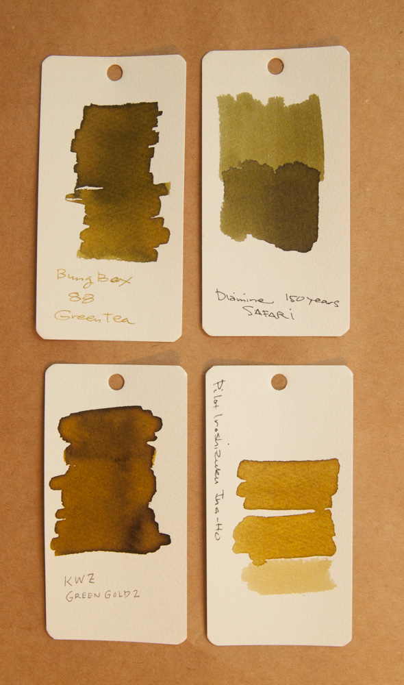 KWZ Green Gold 2 ink comparison