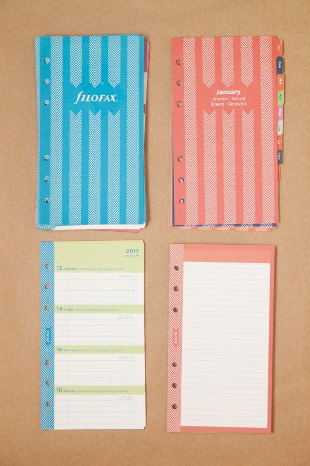 Filofax stripes inserts 2017