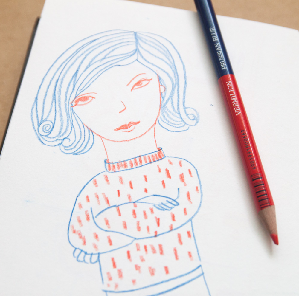 Red & Blue Pencils