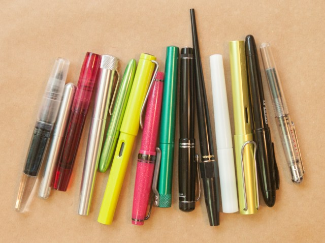 Pens used to test Filofax inserts