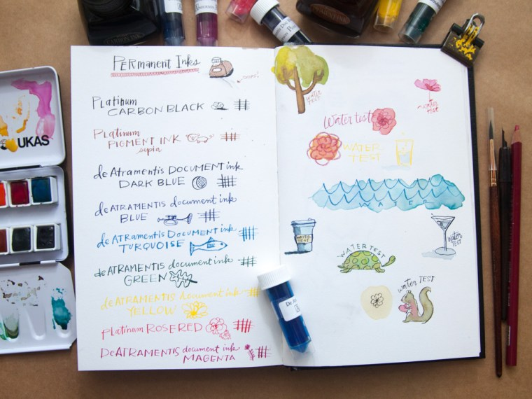 Ink Review: Waterproof, Permanent Inks