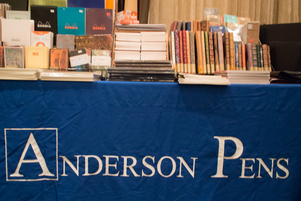 You can find me today at the Anderson Pens table, helping out!