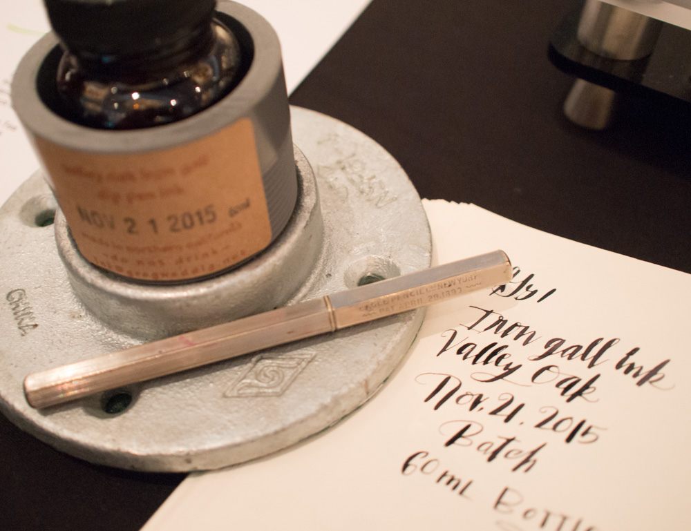 Testing the iron gall ink from Greg Weddig, AKA Hugo's Writing Supplies