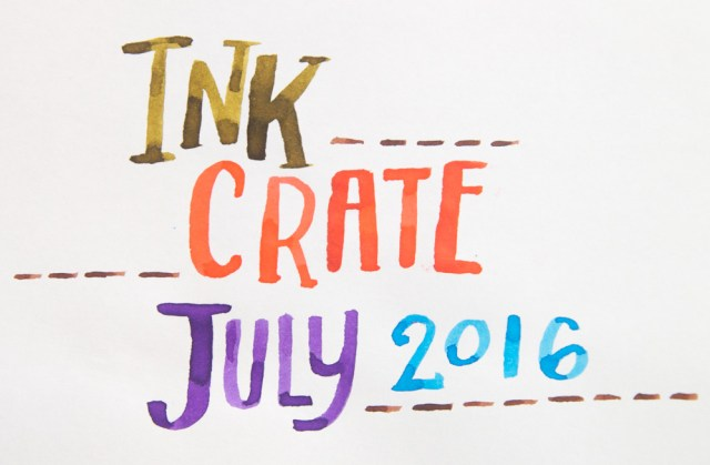 Ink Crate July 2016