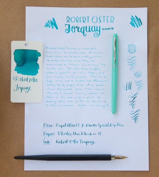 Robert Oster Torquay writing sample