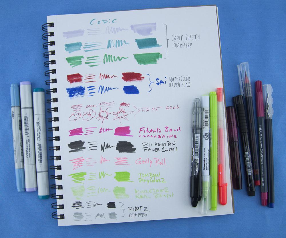 Denik Sketchbook drawing tools 2