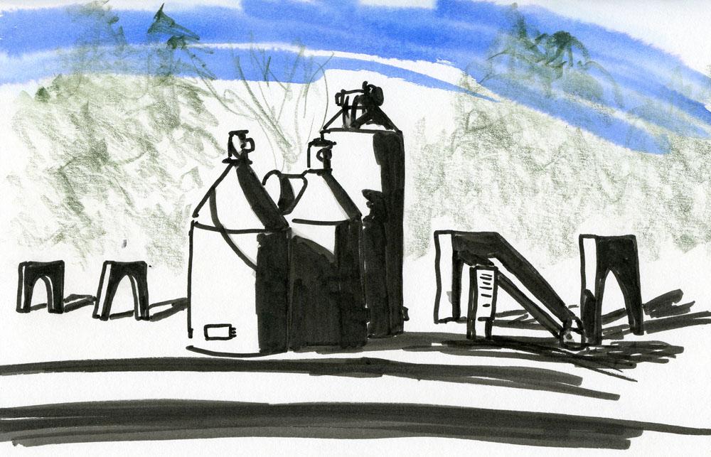 Winsor & Newton Watercolor Marker on 140lb watercolor paper