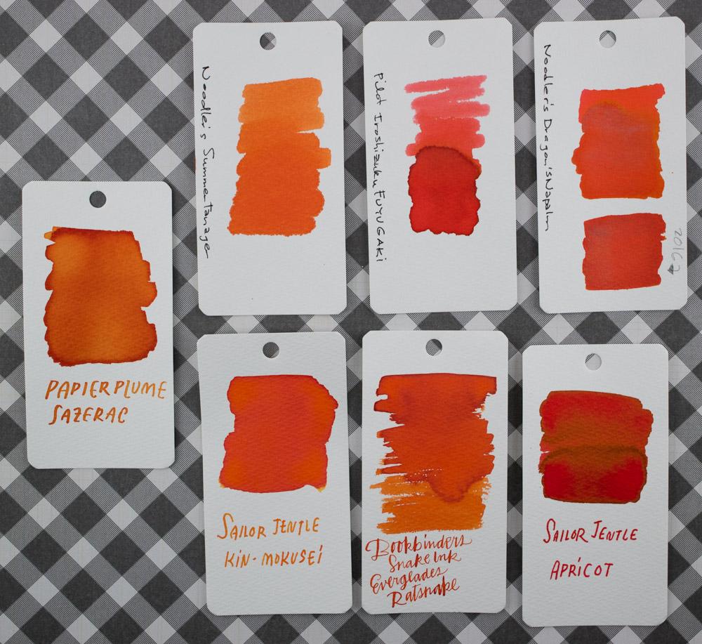 Papier Plume Sazerac Ink Comparison