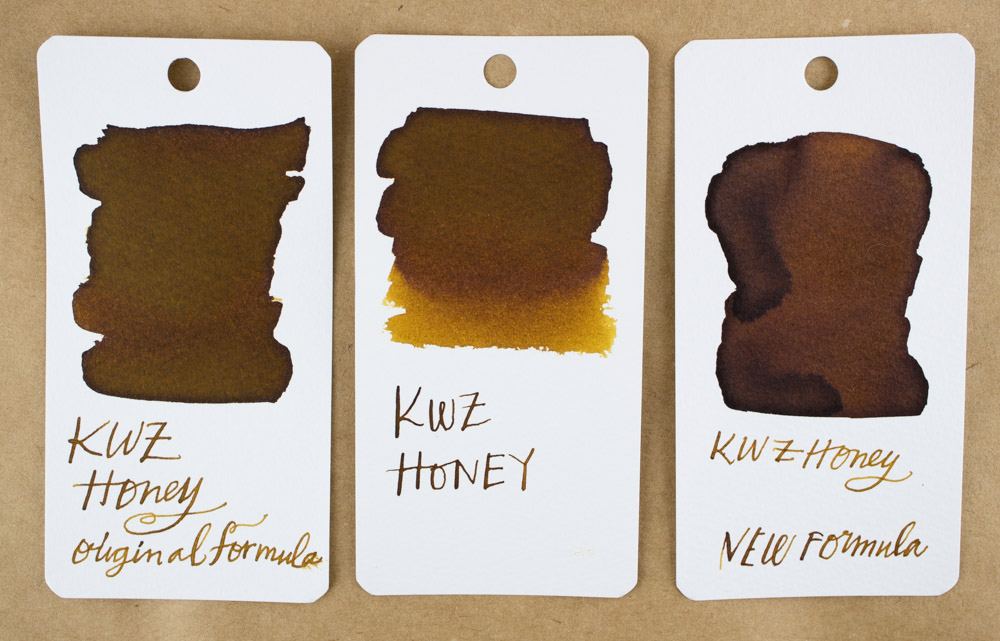 KWZ Honey (old and new formula) swab comparison