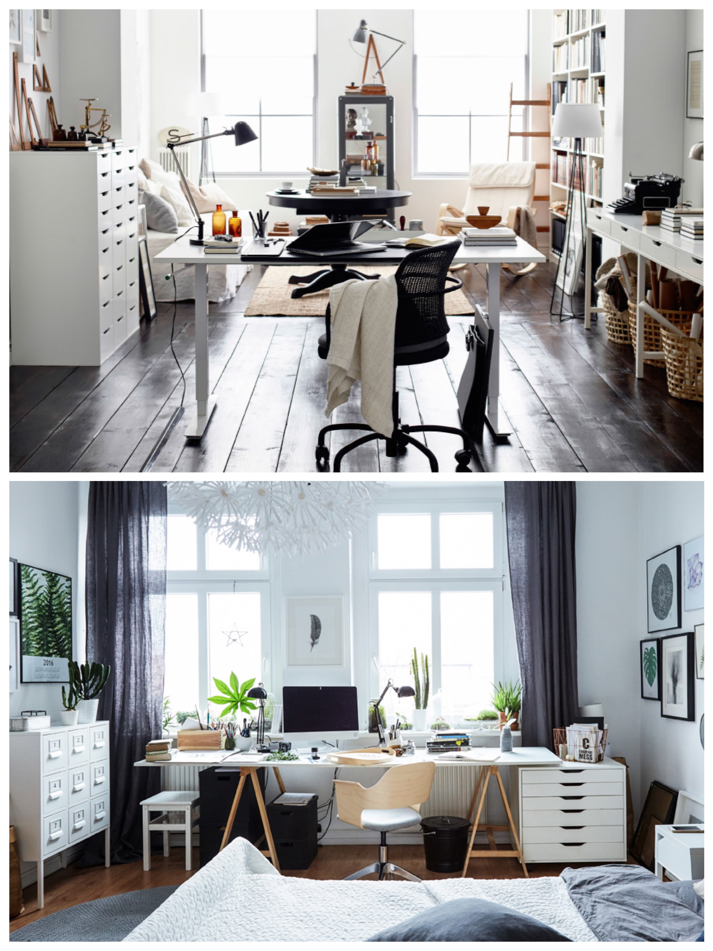 Ikea Office Space. Above Are Two Different Home Office Spaces; One Is A  Shared