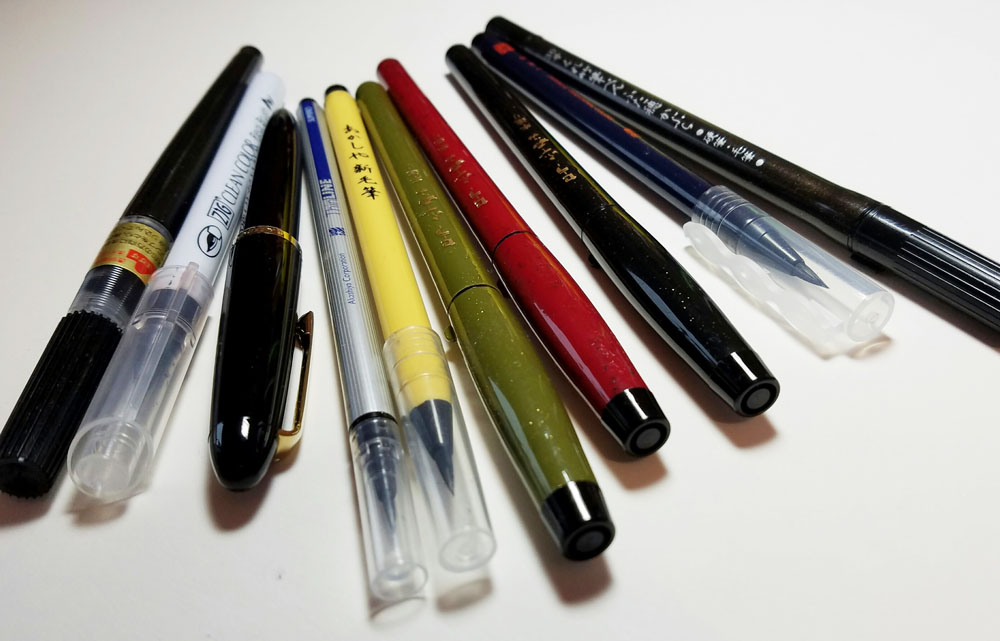 water soluble bristle pens variety of form factors